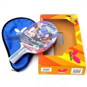 蝴蝶TBC402 乒乓球成品拍 横拍/直拍 赠拍套 双反胶