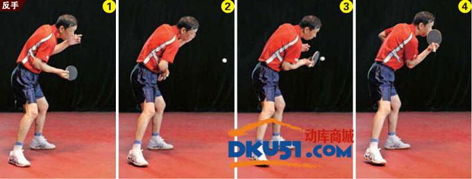 乒乓球技术:直板正胶两面攻打法要点图示
